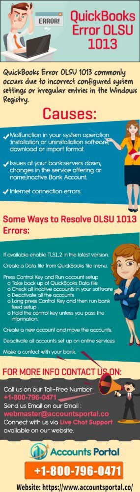 1800-796-0471: QuickBooks Error OLSU 1013 Support & Solutions