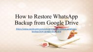 Restore WhatsApp Backup from Google Drive to iPhoneAndroid