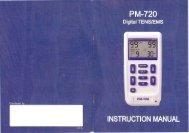 Page 1 PM-720 Digital TENSJEMS L ...H U M N D Tl C U Dn T S N ...