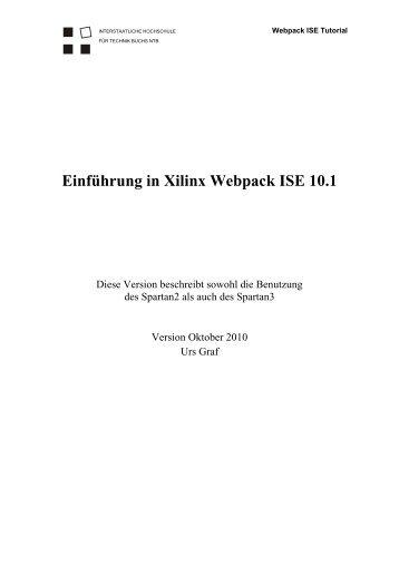 Einführung in Xilinx Webpack ISE 10.1