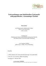 Untersuchungen zum funktionellen Gentransfer zelltypspezifischer ...