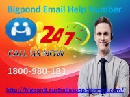 Recover It With Bigpond Email Help Number|1-800-980-183