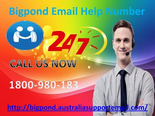 Recover It With Bigpond Email Help Number 1-800-980-183