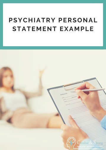 Psychiatry Personal Statement Examples