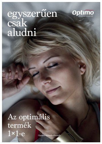 egyszerűen csak aludni - Optimo