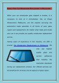 Hassle-Free Car Windscreen Replacement in Melbourne - Page 2