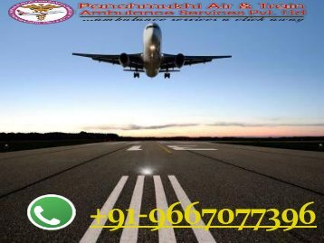 Panchmukhi Air Ambulance Service in Bokaro with Doctors Team