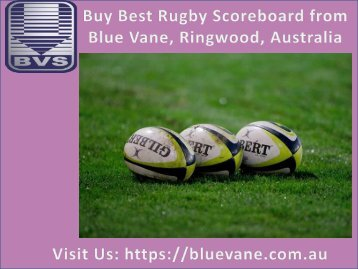 Shop now best Rugby Scoreboard from Blue Vane, Australia