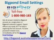 Bigpond Email Settings Consults To Solve Technical Issue|1-800-980-183