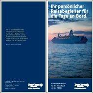 Ihr persönlicher Reisebegleiter für die Tage an Bord. - TransOcean