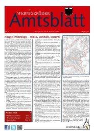 Amtsblatt Stadt Wernigerode 09 - 2012 (4.82 MB)
