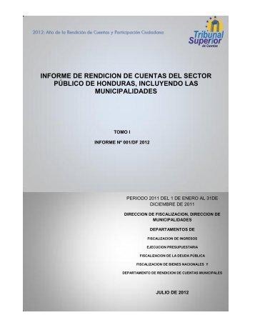 informe de rendicion de cuentas del sector público de honduras ...