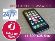Reset Apple ID Password +1-800-608-5461