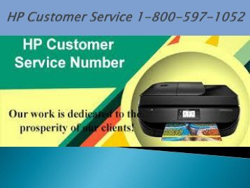 Call 1-800-597-1052 HP Customer Service For HP Support Assistant