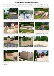 Aufbauanleitung von einem Gartenhaus - Holzstudio Desch