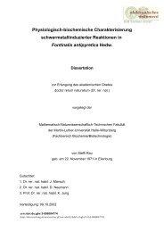 Physiologisch-biochemische Charakterisierung ...