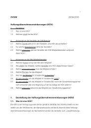 1. Darstellung der Haftungsübernahmevereinbarungen (HÜV)