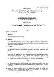 Tarifvertrag zur Arbeitnehmerüberlassung - Fachverband Sanitär ...