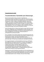 Traumkombination: Kachelofen plus Solarenergie