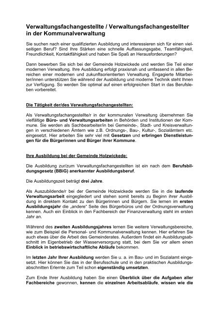 Verwaltungsfachangestellte R Berufsbild Bewerbung 9