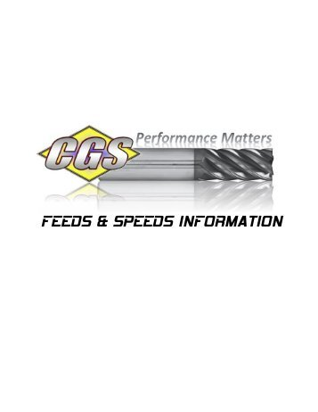 Feeds and Speeds Brochures