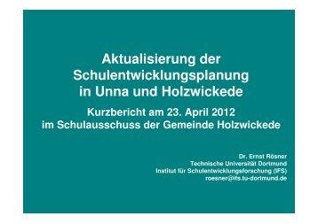 Status-quo- Fortschreibung nach Eingangsquote 2010 - Gemeinde ...