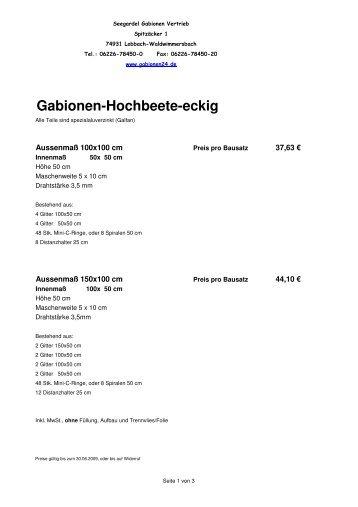 04 09 Hochbeet Eckig Inkl Mwst Seegardel Gabionen