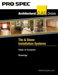 Tile & Stone Installation Systems - ProSpec