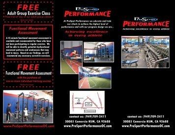 Brochure rough with photos - ProSport Performance