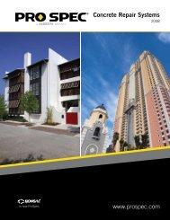 Concrete Repair Systems www.prospec.com - eBuild