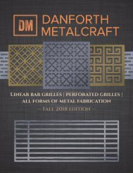 Danforth Metalcraft Catalogue - 2018 Fall
