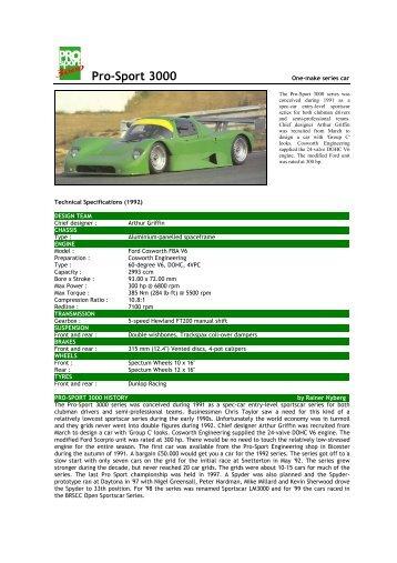 1992 Pro-Sport 3000 - Motorsports Almanac