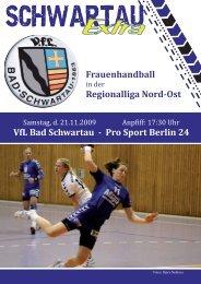 VfL Bad Schwartau - Pro Sport Berlin 24 Frauenhandball ...
