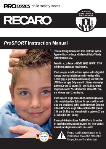 ProSPORT Instruction Manual - Recaro