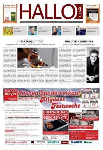 Hallo-Allgäu Kaufbeuren, Ostallgäu vom Samstag, 04.August