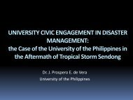 up padayon disaster response team chronology of ... - Asia Engage