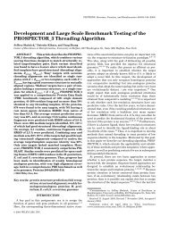 Development and large scale benchmark testing of the ...