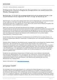 Erfolgreiche Deutsch-Englische Kooperation im ... - newscomm