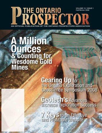 A Million Ounces - Ontario Prospector's Association