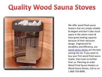 Quality Wood Sauna Stoves