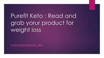 Pure Fit Keto - The Weight Loss Diet Revolution Has Started  You ...