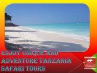 Enjoy Unique and adventure Tanzania safari tours