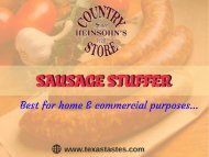 Quality Sausage in best price-Heinsohn's Country Store, TX, USA