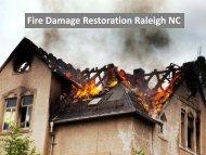 Fire Damage Restoration Raleigh NC