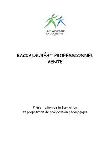 Progression pédagogique Bac Professionnel Vente - Economie et ...