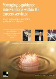 Managing e-guidance interventions within HE careers ... - Hecsu