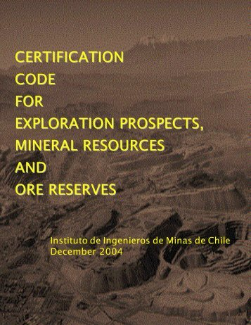Certification Code For Exploration Prospects, Mineral ... - crirsco