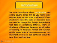 Editing vs Proofreading-How are they Different pdf