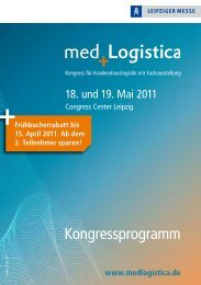 [PDF] Kongressprogramm - med.Logistica