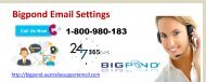 Forgot Bigpond Email Settings And Want To Retrieve? Dial 1-800-980-183